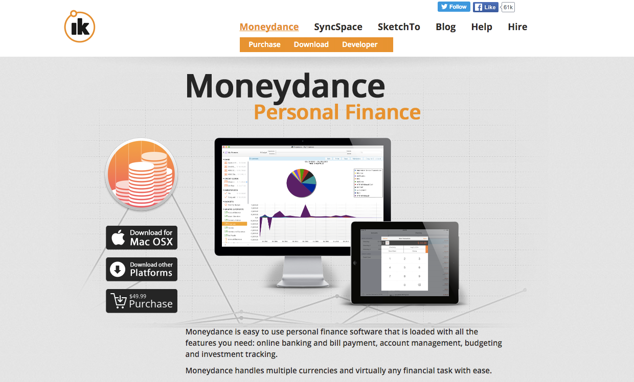 moneydance personal finance retirement savings