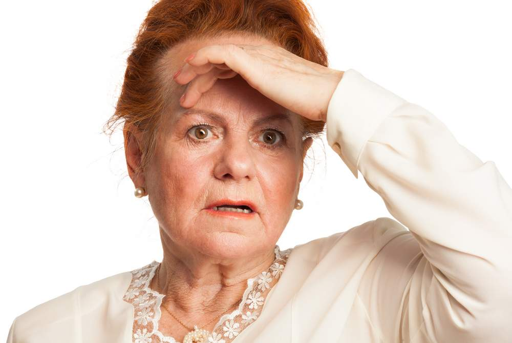 confused senior woman due to dementia or alzheimers. Memory loss is effecting aging adults everyday.