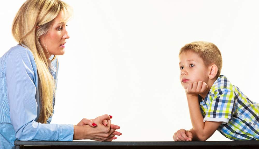 Mother Talking With child about ill relatives tough conversation because she loves him